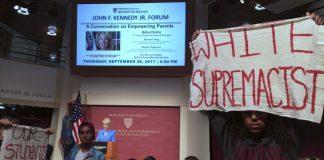 DeVos met by protesters at Harvard speech on school choice