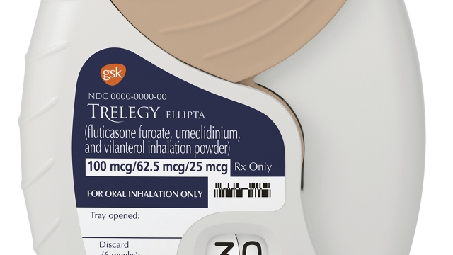 FDA OKs Glaxo's inhaler, first one to combine 3 medicines