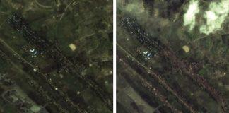 Fleeing Rohingya Muslims watch as homes burn in Myanmar