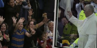 Pope Francis says he bring message of hope to Colombia