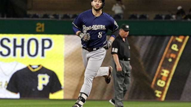 Suter, Braun help Brewers beat Bucs to gain in playoff race
