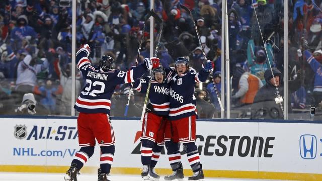 9ddeb69d9 Miller s OT goal lifts Rangers past Sabres in Winter Classic - LemonWire