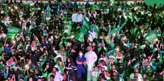 Saudi stadiums open for women in a first to watch soccer