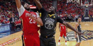 Dominant Davis leads Pelicans past Warriors, 119-100.