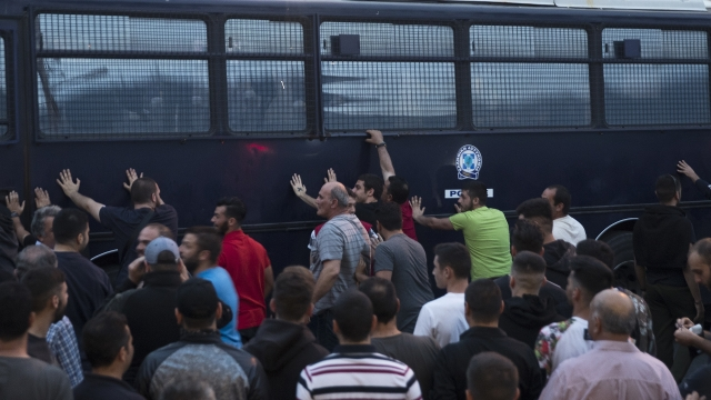 Greek island protest about migrant influx turns violent