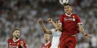 The Latest: Madrid leads Liverpool 2-1 in final 15 minutes