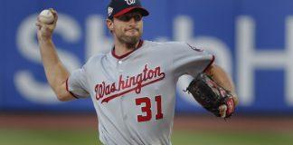 Scherzer, HRs by Rendon, Harper lead Nationals over Mets 5-4