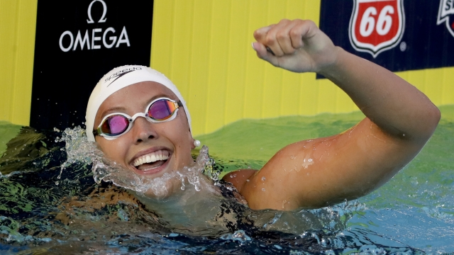 Simone Manuel, Michael Andrew win 50 free at US nationals