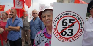 Tens of thousands of Russians protest retirement age hikes
