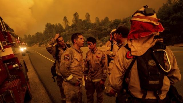 'Terrifying' tornados of flame burn California city; 2 dead