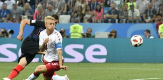 The Latest: Denmark-Croatia 1-1 in 4th minute at World Cup