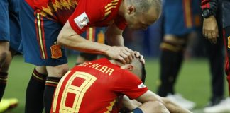 The Latest: Iniesta's international career ends in Russia