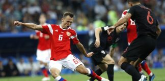 The Latest: Russia and Croatia tied at 1 at halftime