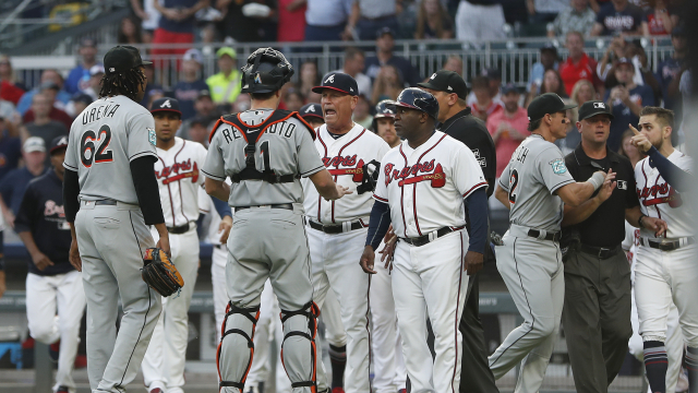 LEADING OFF: Braves-Marlins melee, Cards soaring, Lester up