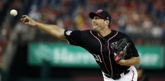 Scherzer picks up 16th win, Nationals beat Marlins 8-2