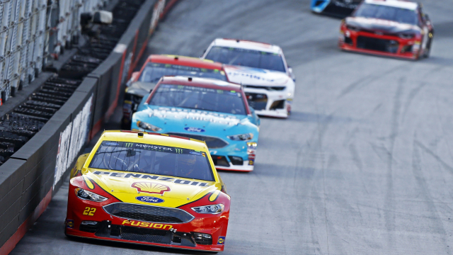 The Latest: Logano wins second stage at Bristol