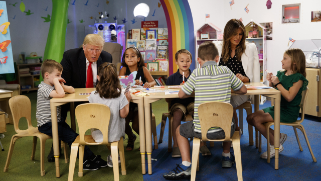 Trump tours Ohio children's hospital before speech to GOP