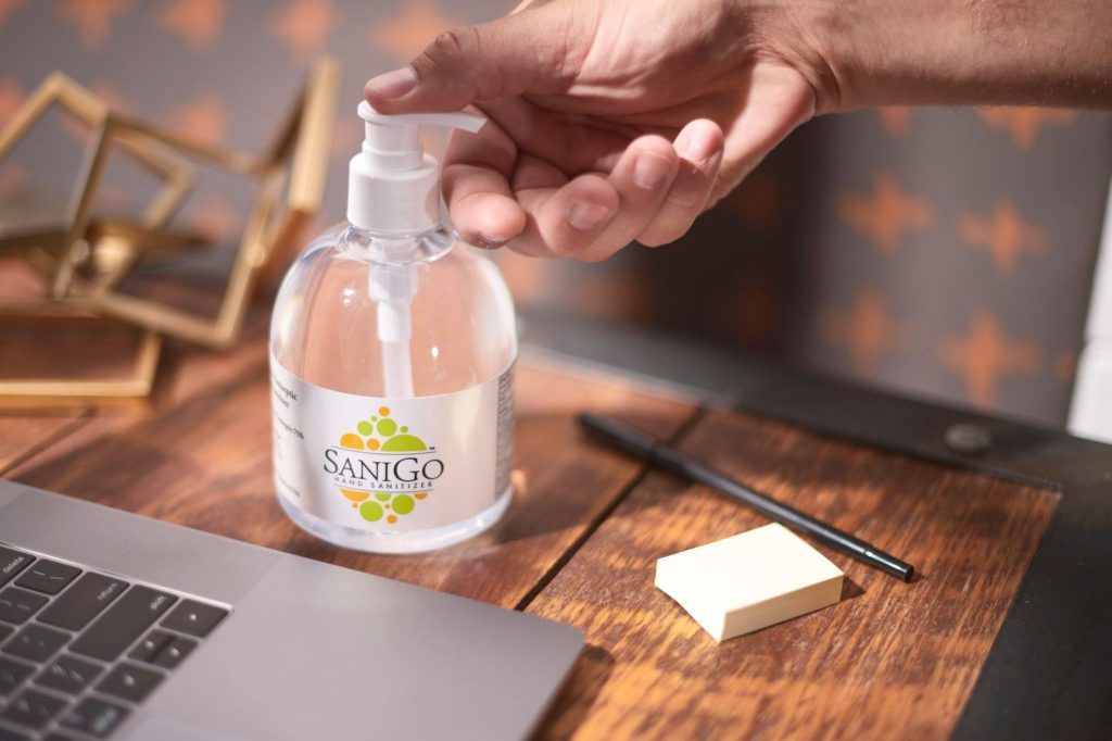 SaniGo hand sanitizer in stock, on sale through November